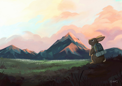 rabbit-hiking-hill-landscape-jpg