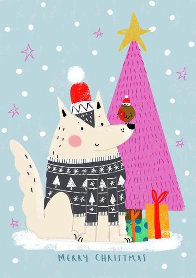 christmas-husky