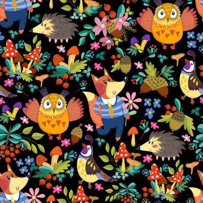 autumn-pattern-foxes-owls-black-jpg