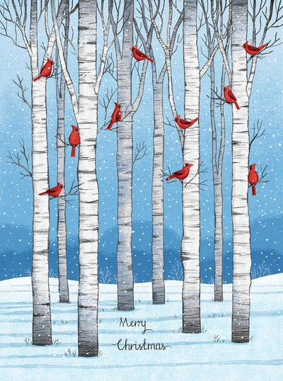 red-cardinals-and-birch-trees