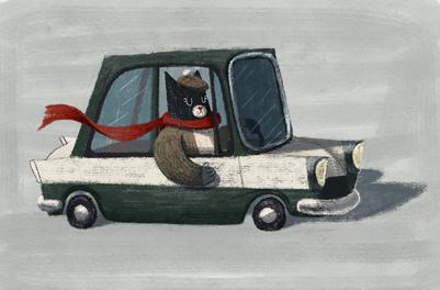 cool-cat-red-scarf-car-vehical-hat-triumph-herald-catonpaper-2019-jpg