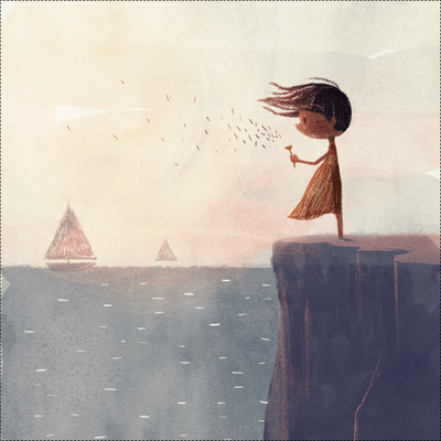 dandelion-seeds-girl-making-a-wish-character-sailing-boats-ocean-sea-cliff-catonpaper-2018-jpg