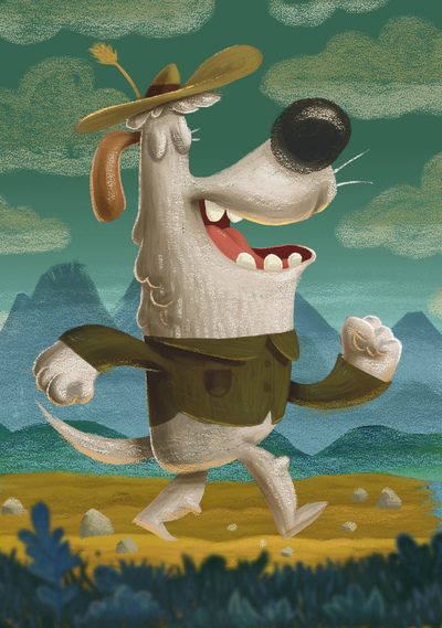 dog-traveling-walker-mountins-nature-roadtrip-straw-hat-catonpaper-coming-to-you-jpg