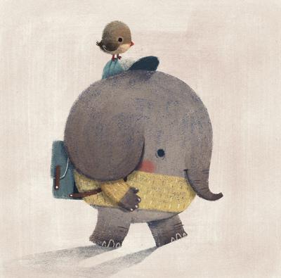 elephant-animal-animal-characters-whimsical-school-trip-friends-jungle-relationship-symbiosis-catonpaper-2020-jpg