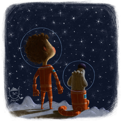 space-astronauts-boy-dog-characters-stars-cosmos-moon-planets-travel-catonpaper-friends-in-space2018-jpg