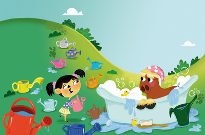 little-girl-horse-bubble-bath-jpg