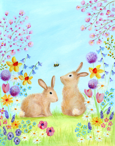 easter-rabbits-bunny-bee-blossom-flowers-jpg