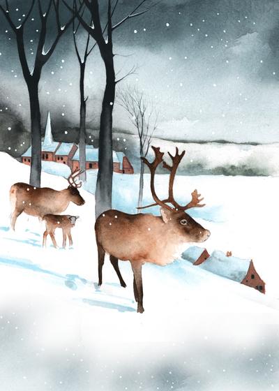reindeer-snow-village-trees-jpg