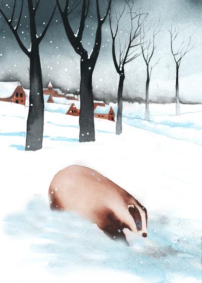 badger-snow-village-trees-jpg