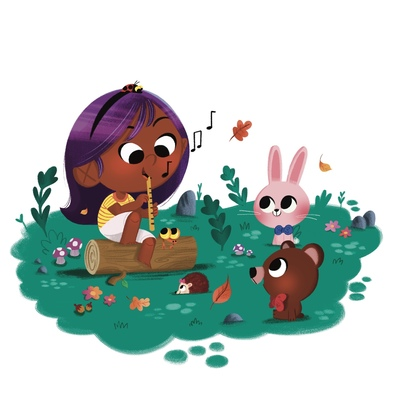 girl-flute-animal-friends-jpg