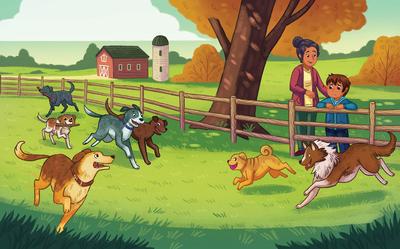 boy-mom-dogs-puppy-farm-adoption-fall-family-running-animals-hispanic-jpg