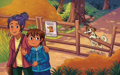 boy-mom-dogs-puppy-farm-adoption-fall-family-running-animals-hispanic-michellesimpson-jpg