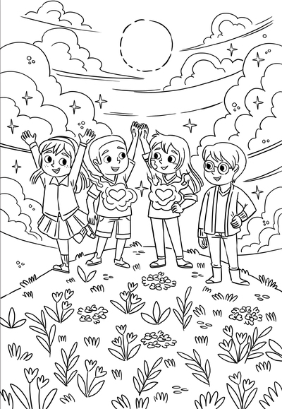 coloring-colouring-pages-kidsbooks-workbooks-lineart-blackandwhite-friends-michellesimpson-jpg
