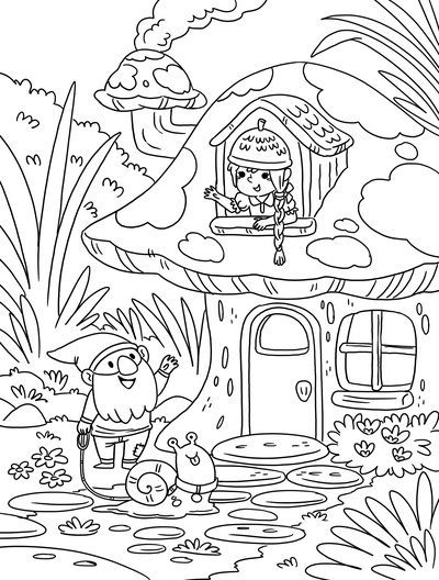 gnome-mushroom-coloring-colouring-pages-magical-mythical-creatures-cute-kidsbooks-workbooks-lineart-blackandwhite-michellesimpson-jpg
