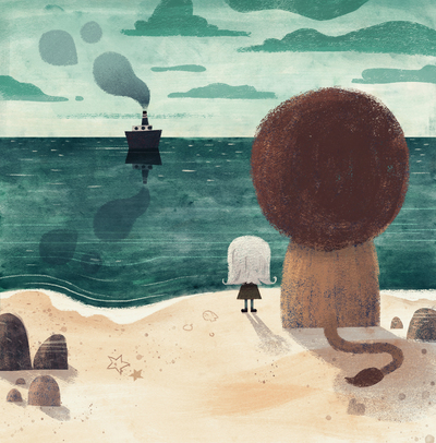 girl-orphan-white-hair-lion-giant-tiny-sea-ocean-boat-ship-stones-clouds-smoke-catonpaper-a-lion-called-love-jpg-1