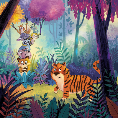 jungle-forest-animals-tiger-colorful-hide-fox-rabbit-foliage-jpg