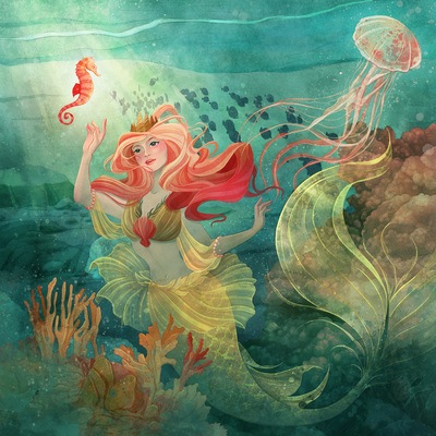 mermaid-under-the-sea