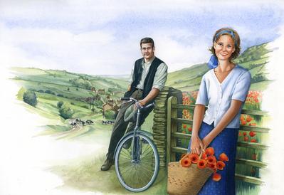 lady-with-man-on-bike