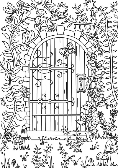 secret-garden-colouring-page