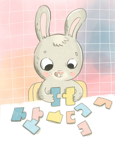 little-bunny-playing-puzzle