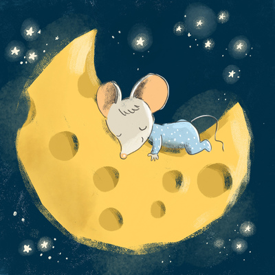 cute-baby-mouse-sleeping-on-a-cheese-moon