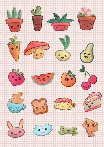 kawaii-stickers