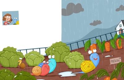 snails-and-vegetable-garden
