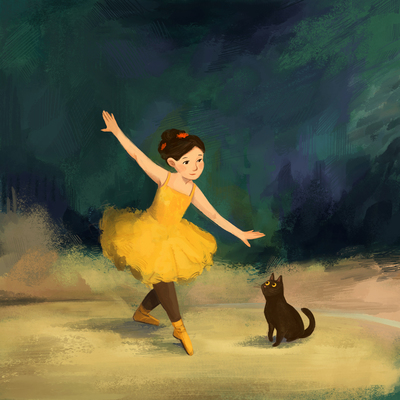 girl-dancer-cat-brushstrokes-jpg