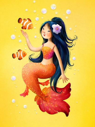 snap-card-mermaid-clown-fishes-a-jpg