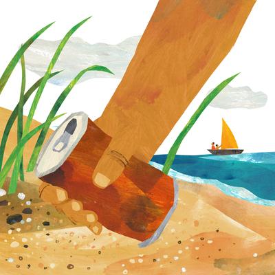 beach-rubbish-gogreen-ship-boat-sea-ocean-grass-sand-can-jpg