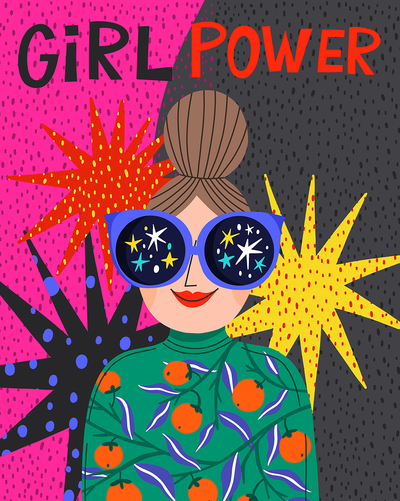 girl-power-star-sunglasses-illustration
