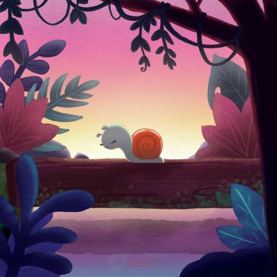 snail-nature-sunset-log-river-plants-tree-jpg