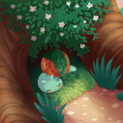 snail-sleep-morning-sunrise-tree-flowers-jpg