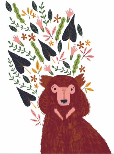 bear-with-flowers-png