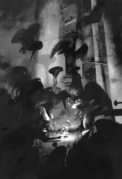 illustration-grimmbrothers-grimm-story-forest-night-darkforest-creatures-fire-bivouac-camp-freaks-fantasy-tale-children-childrentale-friends-murky-dark-gloomy-monster-obscure-fire-bonfire-jpg