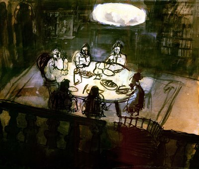 illustration-ink-gombrowicz-painting-mixed-media-photomontage-supper-story-library-assembly-gathering-jpg