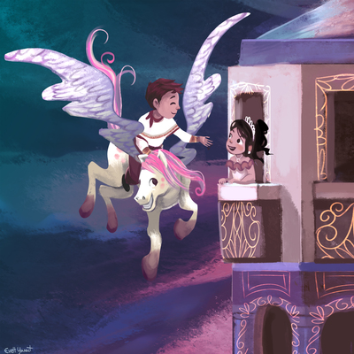 pegasus-unicorn-princess-tower-castle-prince-tale-horse-fly-by-evelt-yanait-jpg