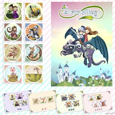 boardgame-game-cards-tales-dragon-knight-princess-cinderella-rabbit-pig-play-by-evelt-yanait-jpg