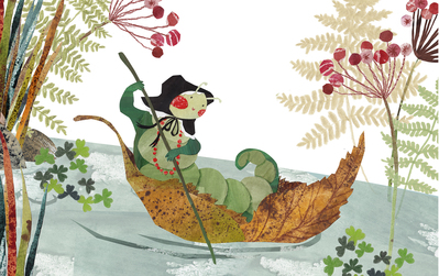 caterpillar-boat-river-leaves-jpg