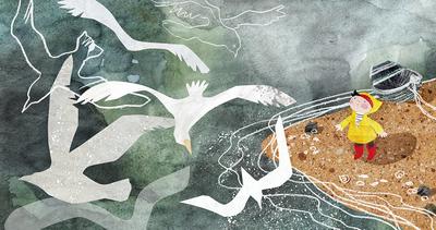 seashore-gulls-boy-sea-jpg