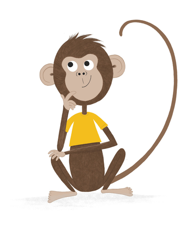 monkey-thinking-character