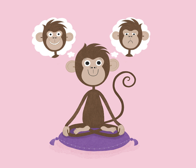 meditation-monkey-worry-happy-mentalhealth