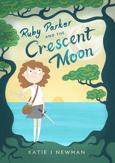 girl-moon-sunset-trees-sword