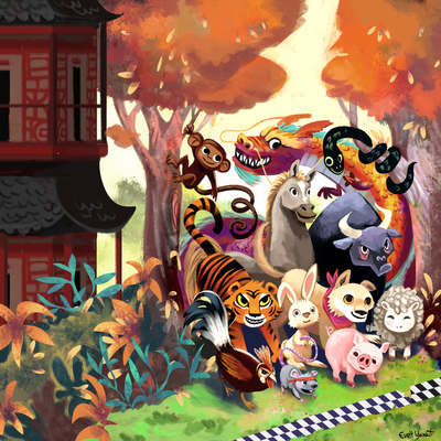 animals-race-pet-china-chinese-orient-dragon-tiger-horse-chicken-rabbit-bunny-forest-woods-by-evelt-yanait-jpg