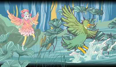 peter-and-the-wolf-the-bird-and-the-duck-in-pond