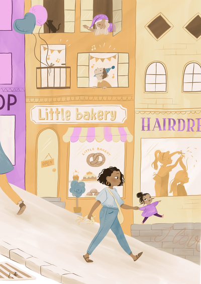 girl-purple-mother-daughter-boy-bicykle-store-street-city-sign-bakery1-jpg