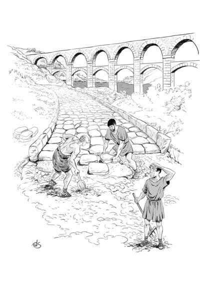 romans-building-road