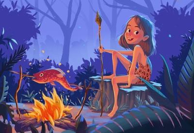 girl-stoneage-fish-jpeg