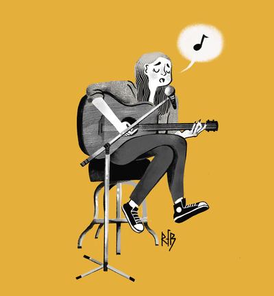 ramona-brunogirl-music-song-sing-guitar-bnw-jpg