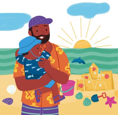 daddy-beach
